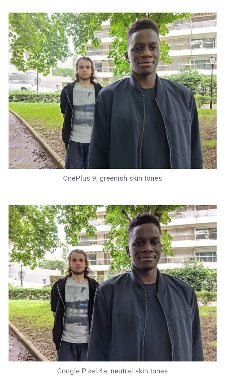 مقایسه دوربین اصلی Pixel 4a با OnePlus 9