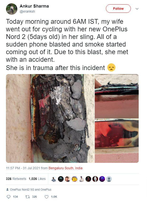 انفجار وان پلاس نورد ۲
