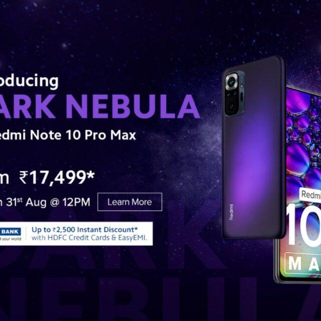 رنگ Dark Nebula ردمی Note 10 Pro