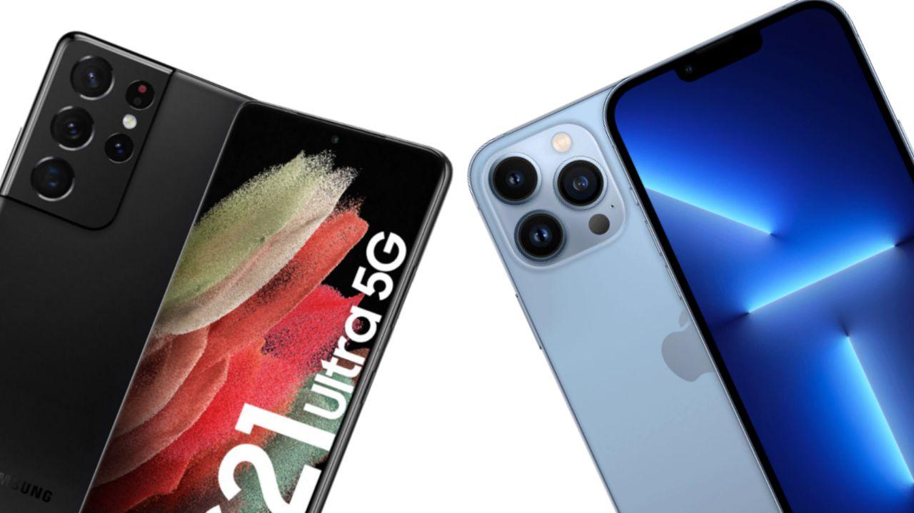 مقایسه آیفون ١٣ پرو مکس و Galaxy S21 Ultra