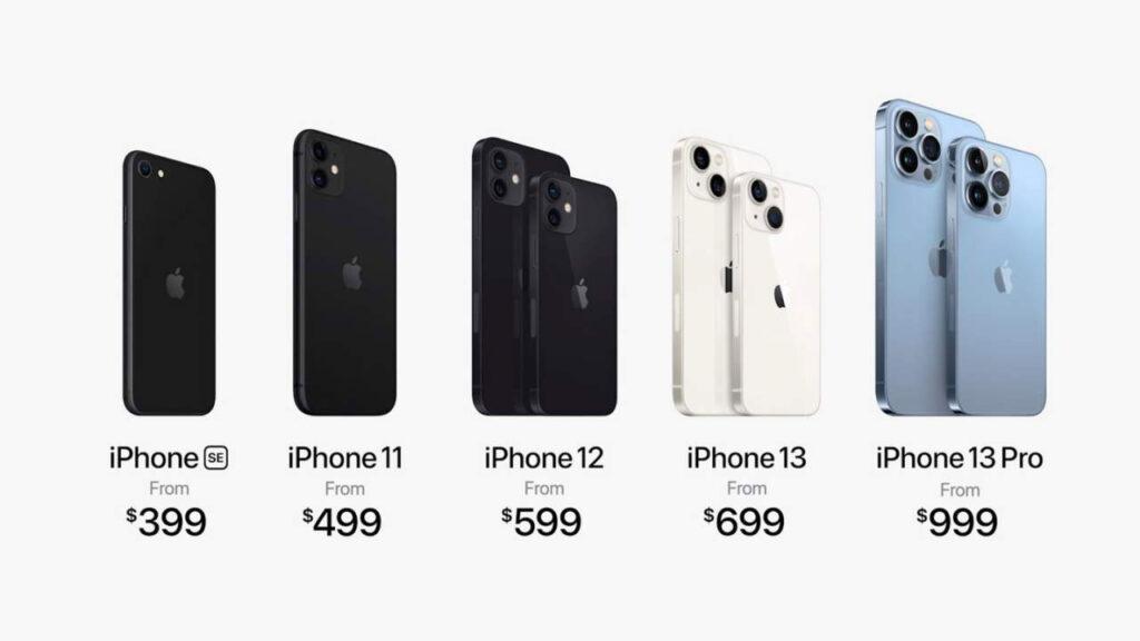قیمت آیفون های اپل پس از معرفی آیفون ۱۳