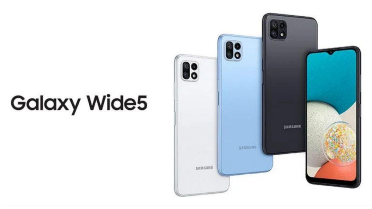 سامسونگ Galaxy Wide5 رونمایی شد: تقریباً همان Galaxy A22 5G
